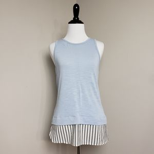 J. Crew Blue Drapey Sleeveless Tank Top
